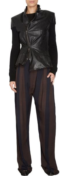 Haider Ackermann Striped Wide Leg Trousers at Barneys.com