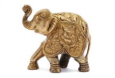 Large Brass Elephant on OneKingsLane.com  Beautiful! The trunk up represents good luck. It is also said placing the elephant's rump towards the front door of your home invites wealth & good fortune into your life...But I just think these are incredible creatures & love to collect them in all shapes and sizes.