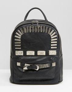 STYLE  Bags · ASOS Western Metal Trim Backpack Metal Trim, Asos Fashion,  Womens Fashion, Girls Accessories 592830fc45