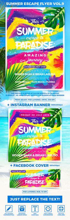 Summer Escape Party Flyer vol.9