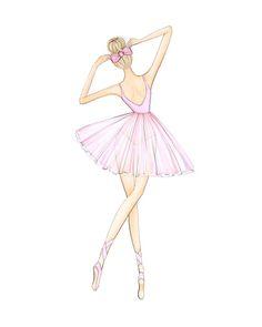 Set of 3 ballerina trio blond brunette redhead fashion Ballerina Kunst, Ballerina Drawing, Ballet Drawings, Dancing Drawings, Ballerina Pink, Ballerina Project, Ballerina Dress, Art Ballet, Ballet Painting