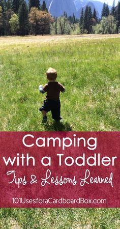 Camping with a Toddler: Tips & Lessons Learned