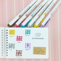 """좋아요 319개, 댓글 18개 - Instagram의 からふる ☺︎ Colourful(@colourfulseason)님: """"☺︎ マイルドライナーお気に入りの6色を並べてみたヾ(*´∀`*)ノ それぞれのイメージカラーの食べ物を描いたんだけど、グレー色の食べ物がどうしても思いつかず、お魚にした(笑)…"""" Bullet Journal 101, My Journal, Bullet Journal Inspiration, Fancy Handwriting, Cute Doodles, Little Twin Stars, Study Notes, Writing Instruments, Life Planner"""