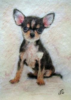 ACEO ORIGINAL PAINTING   Chihuahua Chien  Cane Hund Dog Puppy