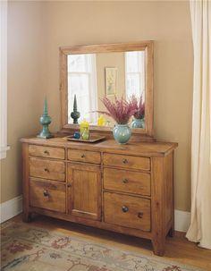 Attic Heirlooms Door Dresser by Broyhill Furniture - Pedigo Furniture - Dresser Livingston, Onalaska, Trinity, Coldspring, Corrigan, Huntsville, TX