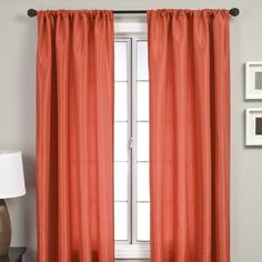 Softline Home Fashions Bella Kids Rod Pocket Panel in Burnt Orange | AllModern
