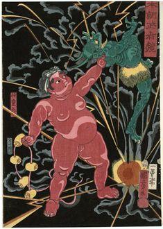 Utagawa Kuniyoshi: Kaidômaru, from the series Mirror of Warriors of Our Country (Honchô musha kagami) - Museum of Fine Arts