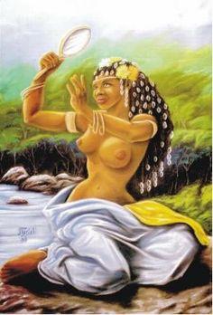 "OXUM. (""OSUN"") Goddess of Love, Fertility, Beauty, Desire. Legend in; ""The GODDESSES / Psychology of Female Power"", http://thesisterhoodpsychology.weebly.com/"