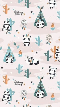 Baby Ilustration Art Children Nursery Prints Ideas For 2019 Panda Illustration, Indian Illustration, Pattern Illustration, Cute Panda Wallpaper, Cute Wallpaper Backgrounds, Wallpaper Iphone Cute, Wall Wallpaper, Nursery Patterns, Nursery Prints
