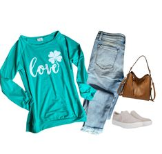 St Patrick's Day Outfit, Outfit Of The Day, Cute Graphic Tees, St Patricks Day, Saints, Cool Outfits, Boutiques, Celebrities, Casual