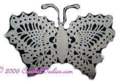 CrochetDoilies.com - Free Patterns for Crocheting, Free Crochet Pattern: Delicate Crochet Butterfly