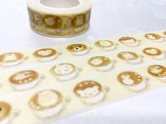 Coffee art cafe art washi tape 10M latte by TapesKingdom on Etsy