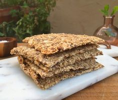 HAVREKNEKKEBRØD JEG ALDRI BLIR LEI! - EVA i PROVENCE Bread Baking, No Bake Cake, Crackers, Provence, Granola, Food And Drink, Cooking, Ethnic Recipes, Zero Waste