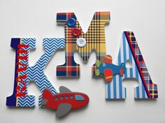 Personalized, custom, wood letters to spell name or initials for nursery, playroom or child's room decor