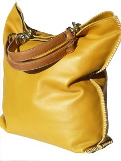 Gajumbo Tote Bag Napa Leather - Curry or Walnut by IMPERIO jp