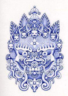 "Juxtapoz Magazine - Reader Art: Erik de Haan aka ""Rooster""   ballpoint pen"