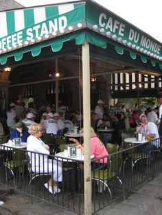 We had several dates after church at the CAFÉ DU MONDE where we ate beignets and tried the chickory coffee.