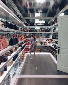 Kylie Jenner's handbag closet!