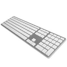 Matias Aluminium Wireless - Multi Connect Tastatur - Kabellose Bluetooth Tastatur in Aluminium mit Multi-Connect und Quick-Switch