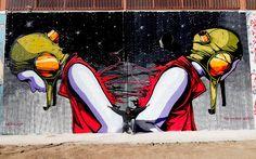New Street Art Mural By Spanish Artist Deih on the streets of Malaga, Spain. 1