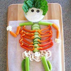 We love this very #veggie #skeleton!