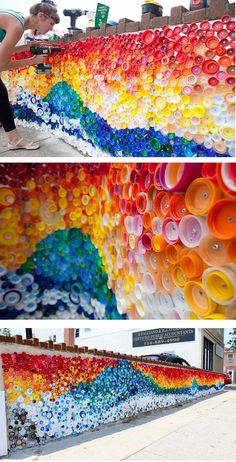 18 The most creative ways to recycle plastic bottles . - 18 The most creative ways to recycle plastic bottles bottle - Plastic Bottle Tops, Reuse Plastic Bottles, Plastic Bottle Crafts, Bottle Cap Crafts, Diy Bottle, Bottle Caps, Recycled Bottles, Plastic Art, Recycled Art Projects