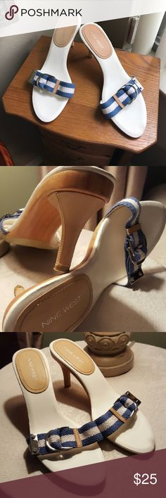 Beautiful kitten slide on's Thanks for checking out this item!! Please be sure to check out the rest of my closet and my bundle deals too 💖 happy poshing 💕 Nine West Shoes Sandals