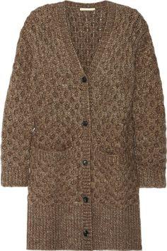 I love this sweater Michael Kors Honeycomb-knit cardigan Cardigan En Maille, Knit Cardigan, Brown Cardigan, Grandpa Sweater, Girls Sweaters, Knit Sweaters, Cardigans, Casual Outfits, Fashion Outfits