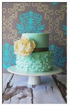 Baby Shower Cakes For Girls Ruffles | ... Cake, I Just Love How. KuchenHochzeitRüsche  KuchenRüschenBlau KuchenSchöne KuchenAmazing CakesDeko IdeenEhe