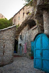 #Blue #door in Mostar, Bosnia and Herzegovina