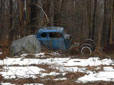 Forgotten old race car