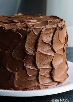 this chocolate ganache buttercream is the best of both worlds, rich flavor and smooth frosting Chocolate Buttercream Recipe, Chocolate Ganache Cake, Chocolate Desserts, Ganache Icing, Buttercream Frosting, Perfect Chocolate Cake, Amazing Chocolate Cake Recipe, Chocolate Heaven, Best Cake Recipes
