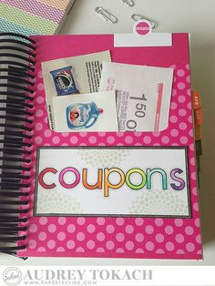 Coupons Pocket by Audrey Tokach for Papertrey Ink (March 2015)