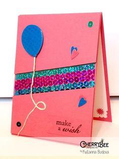 Sequins Card Pink