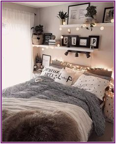 Home Decor Blue 43 cute and girly bedroom decorating tips for girl 39 - -.Home Decor Blue 43 cute and girly bedroom decorating tips for girl 39 - - Modern Bedroom Decor, Room Decor Bedroom, Contemporary Bedroom, Diy Bedroom, Gray Room Decor, Woman Bedroom, Boho Teen Bedroom, Tumblr Bedroom Decor, Bedroom Furniture