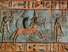 Dendera Temple dedicated to Goddess Hathor.The colours are still very vivid after all these centuries.
