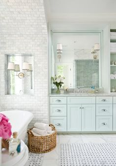 A Beautiful Bath, a Lovely Vignette, and a Winner