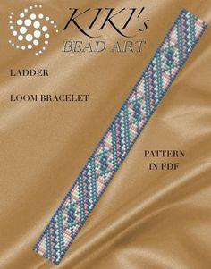 Bead Loom pattern, Ladder LOOM bracelet cuff PDF pattern - instant download