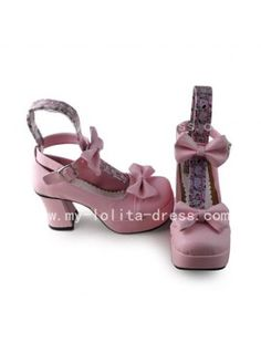 df2c4bc29848 Sweet Pink Square Heel Shoes Lolita Shoes
