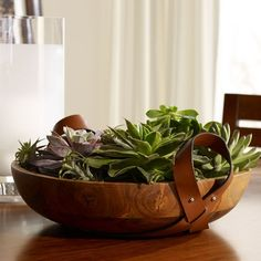The Asher Decorative #Bowl from Ralph Lauren Home is a very good looking wooden bowl beautifully crafted from #solidteak.