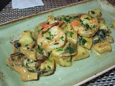 Shrimp and lobster gnocchi, oyster mushrooms, lobster cream sauce at Bel Ari, Read more at http://gourmetpigs.blogspot.com/2015/10/progressive-dinner-at-bel-ari-and-les.html