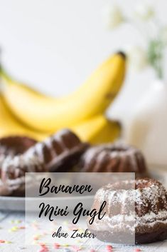 Bananen Mini Gugl – ohne Zucker Now that baby is prepared intended for food, you Raspberry Desserts, Mini Desserts, Chocolate Desserts, Diabetic Recipes, Baby Food Recipes, Dessert Recipes, Healthy Recipes, Pumpkin Dessert, Recipe For Mom