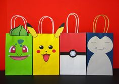 DIY Pokemon Favor Bags/ Pokemon Birthday por CreativePartyStudio