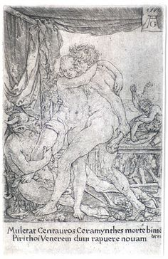 Hercules protects Hippodamia from the centaurs (1550) « Collection Gelonch Viladegut