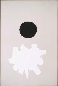 Adolph Gottlieb New York, USA, 1903 - 1974 Black Plus White (whiter Black) 1960