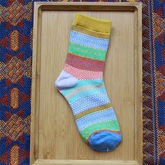 New Men Socks Man Colorful Stripe Multi-Color Cotton Socks Fashion Design Autumn Winter Warm Soft Men's Male Casual Ankle Sock