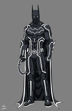 """""""Batman Tron"""" commissioned by (Alfredo Solorio); inspired by design of djzutkovic Batman owned by DC Comics. Tron owned by Disney. Batman Cosplay, Cosplay Armor, Batman Costumes, Bat Costume, Dc Comics Art, Marvel Dc Comics, Batgirl, Catwoman, Batman Redesign"""