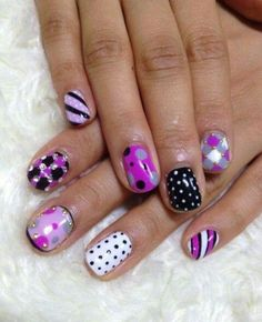 10 More Eye-Catching Spring Nail Polish Trends: #9. Multi-Patterns