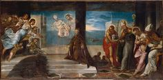 """Jacopo Tintoretto (Jacopo Robusti) (Italian, Venice 1519–1594 Venice). Doge Alvise Mocenigo (1507–1577) Presented to the Redeemer, probably 1577. The Metropolitan Museum of Art, New York. John Stewart Kennedy Fund, 1910(10.206) 