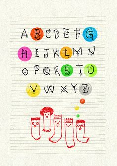 This alphabet has personality.